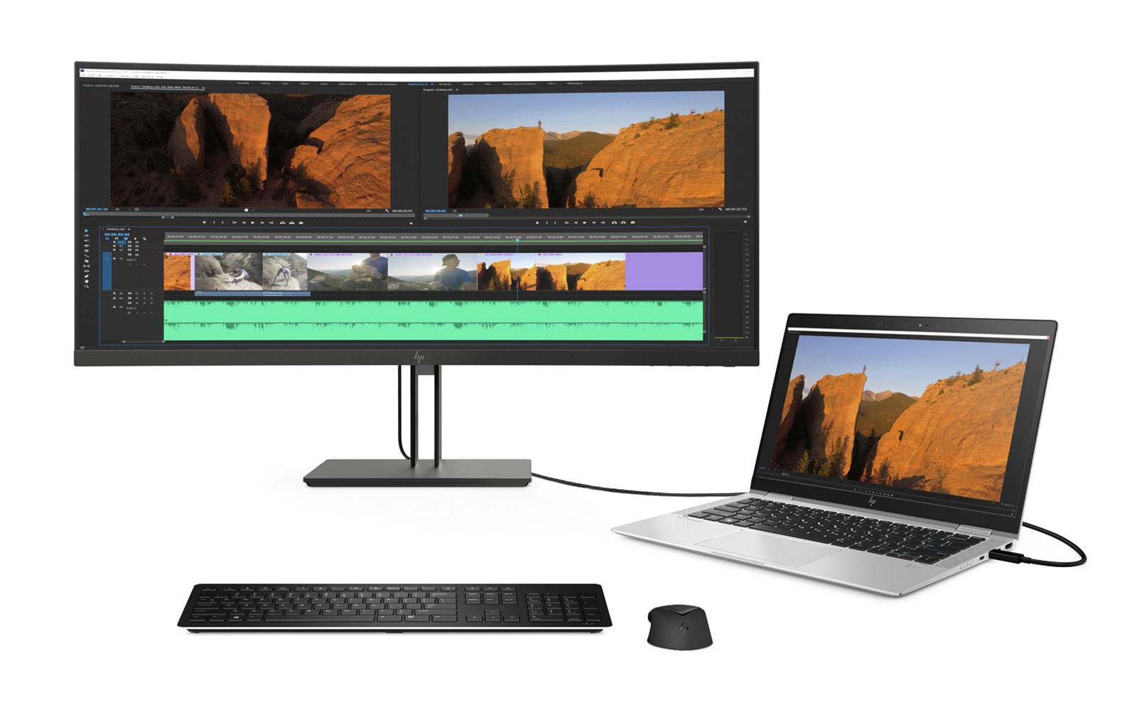 Arbeitsplatzlösung basierend auf der Standard-USB-C-Konnektivität